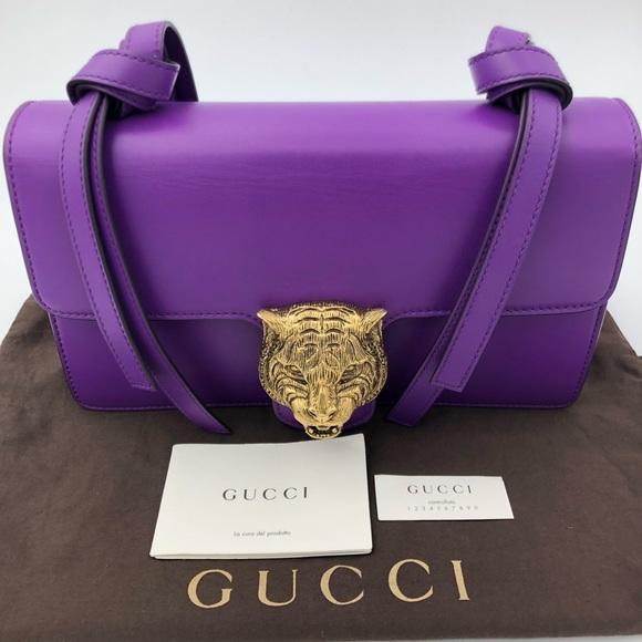 c2996c1ddde Gucci Women s Metallic Animalier Leather bag !